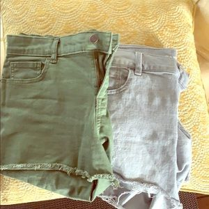 Two pairs of Old Navy boyfriend shorts